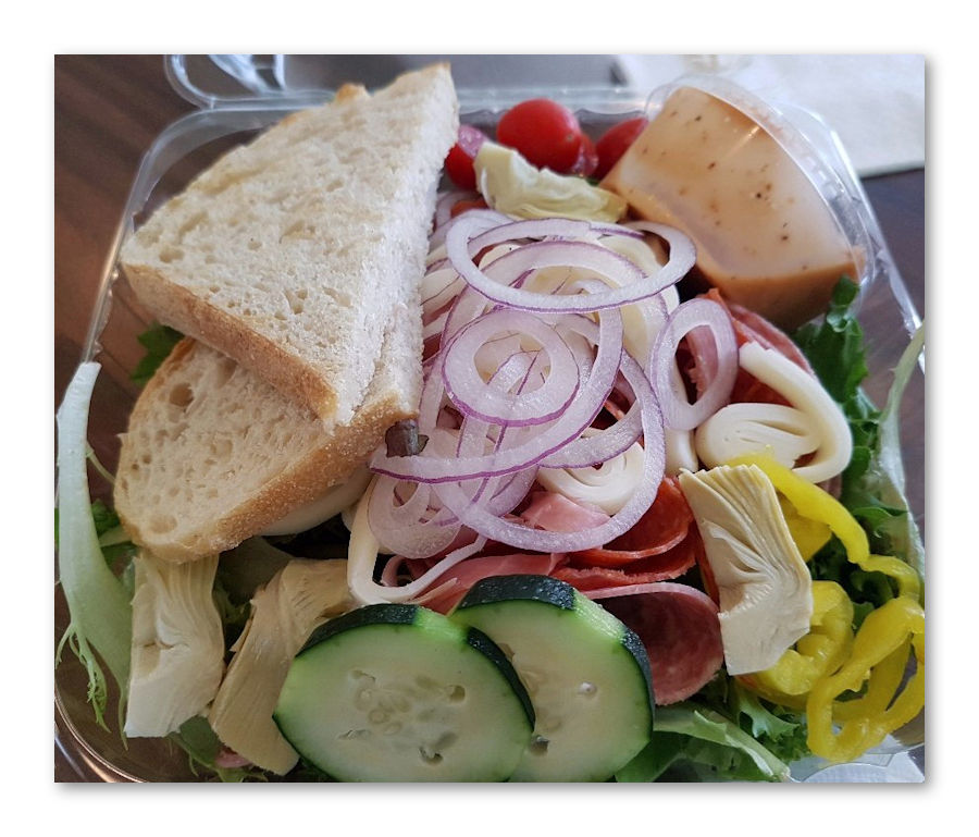 Fresh salad from west main market